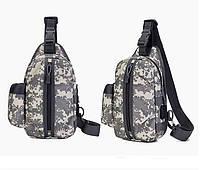 Тактическая сумка-рюкзак, барсетка, бананка на одной лямке, пиксель. T-Bag 448, фото 3