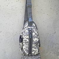 Тактическая сумка-рюкзак, барсетка, бананка на одной лямке, пиксель. T-Bag 448, фото 5