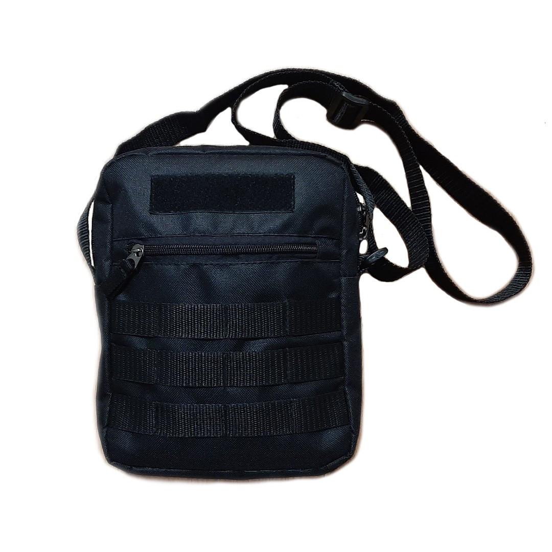 Черная мужская тактическая сумка барсетка, мессенджер.