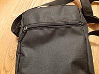 Черная мужская тактическая сумка барсетка, мессенджер., фото 3