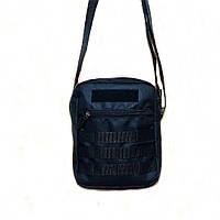Черная мужская тактическая сумка барсетка, мессенджер., фото 5