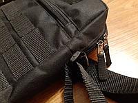 Черная мужская тактическая сумка барсетка, мессенджер., фото 7