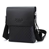 Мужская сумка через плечо Polo Videng, поло. Черная. 28x22x4,5, фото 2
