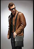 Мужская сумка через плечо Polo Videng, поло. Черная. 28x22x4,5, фото 4