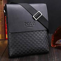 Мужская сумка через плечо Polo Videng, поло. Черная. 28x22x4,5, фото 6
