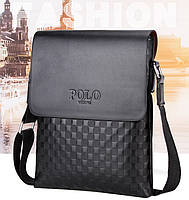 Мужская сумка через плечо Polo Videng, поло. Черная. 28x22x4,5, фото 10