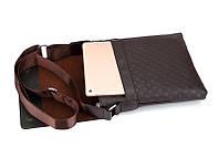 Мужская сумка через плечо Polo Videng, поло. Коричневая. 28x22x4,5, фото 2