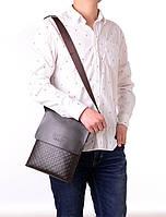 Мужская сумка через плечо Polo Videng, поло. Коричневая. 28x22x4,5, фото 5
