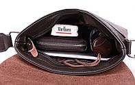 Мужская сумка через плечо Polo Videng, поло. Коричневая. 28x22x4,5, фото 9