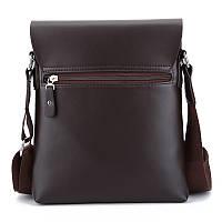 Мужская сумка через плечо Polo Videng, поло. Коричневая. 28x22x4,5, фото 10