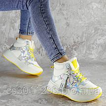 Кроссовки женские зимние Fashion Wrinkles 2424 36 размер 23 см Белый, фото 3