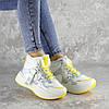 Кроссовки женские зимние Fashion Wrinkles 2424 36 размер 23 см Белый, фото 2