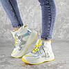Кроссовки женские зимние Fashion Wrinkles 2424 36 размер 23 см Белый, фото 4
