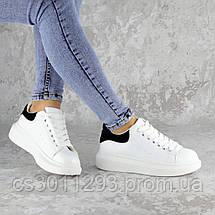 Кроссовки женские зимние с черным Fashion Celtie 2263 37 размер 24 см Белый, фото 2