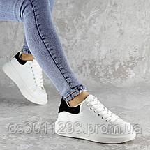 Кроссовки женские зимние с черным Fashion Celtie 2263 37 размер 24 см Белый, фото 3