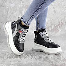 Кроссовки женские зимние черные Donno 2323 (38 размер), фото 3