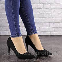 Туфли женские лодочки на шпильке Fashion Agora 1594 36 размер 23 см Черный, фото 2