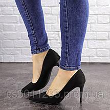 Туфли женские лодочки на шпильке Fashion Agora 1594 36 размер 23 см Черный, фото 3