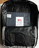 Сумка-рюкзак для девочки канкен Fjallraven Kanken classic школьный, городской, черный с бордовыми ручками, фото 9