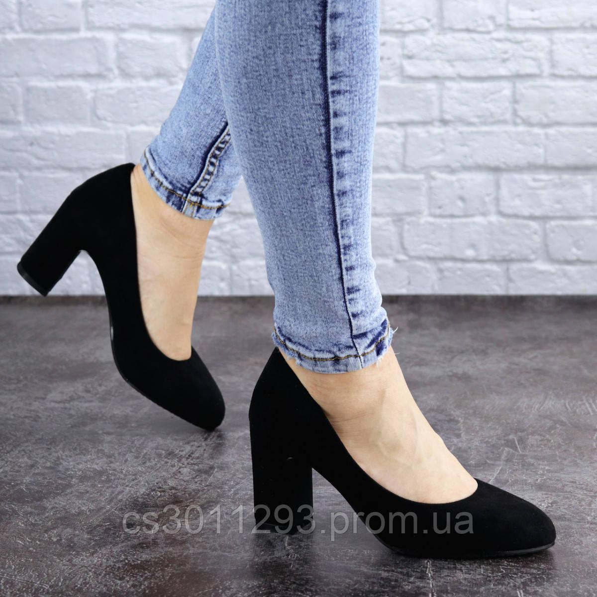 Туфли женские на каблуке Fashion Gata 2068 36 размер 23,5 см Черный