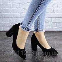 Туфли женские на каблуке Fashion Gata 2068 36 размер 23,5 см Черный, фото 2