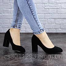 Туфли женские на каблуке Fashion Gata 2068 36 размер 23,5 см Черный, фото 3