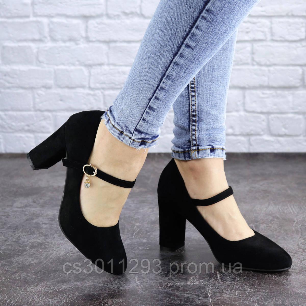 Туфли женские на каблуке Fashion Morita 2042 36 размер 23,5 см Черный
