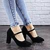 Туфли женские на каблуке Fashion Morita 2042 36 размер 23,5 см Черный, фото 2