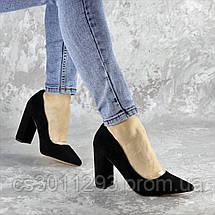 Туфли женские на каблуке Fashion Snuffles 2399 36 размер 23,5 см Черный, фото 2