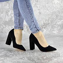 Туфли женские на каблуке Fashion Snuffles 2399 36 размер 23,5 см Черный, фото 3