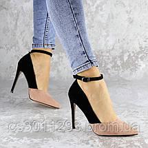 Туфли женские на каблуке розовые Beth 2186 (40 размер), фото 3