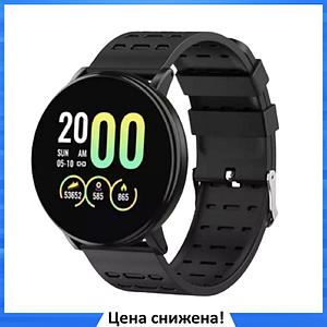 Фитнес-браслет Smart Band 119 Plus - Смарт часы, фитнес браслет, фитнес часы Черные