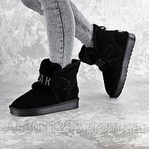 Угги женские Fashion Amotyoshy 2332 36 размер 23,5 см Черный, фото 2
