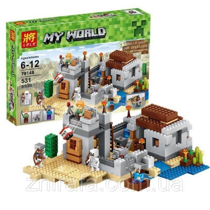 Конструктор Minecraft Застава в пустыне 519д Лего Майнкрафт