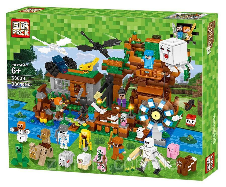 Конструктор Майнкрафт Лего Minecraft Большая компания Стива 986 дет