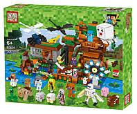 Конструктор Майнкрафт Лего Minecraft Большая компания Стива. 26 фигурок. 986 дет