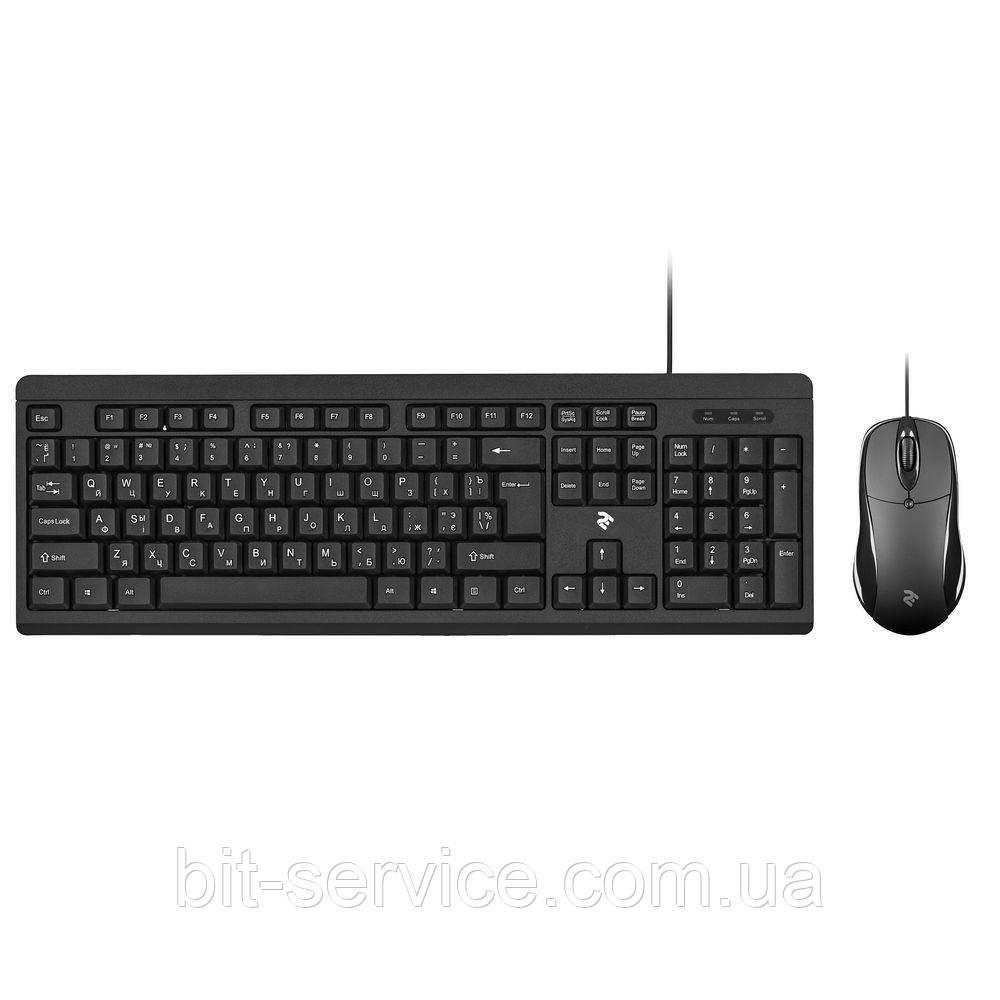 Комплект клавіатура+миша 2E MK401 USB Black (2E-MK401UB)