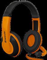 Гарнитура Defender Warhead G-120 Black+Orange (64099)