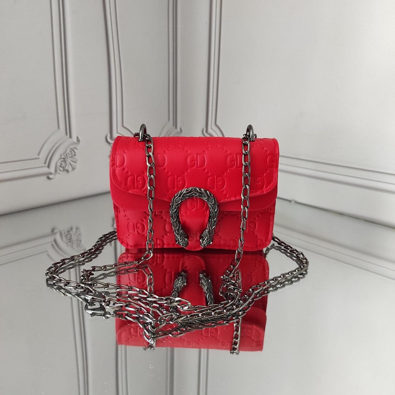 Мини кросс боди, детская красная сумочка