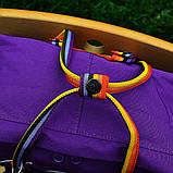 Рюкзак-сумка женский, для девочки канкен фиолетовый радуга Fjallraven Kanken 16 л. с радужными ручками, фото 7