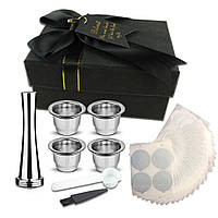 Нестле нержавіючої сталі багаторазового кави капсула Кубок алюмінієвої фольги і порошку молоток і ложка з