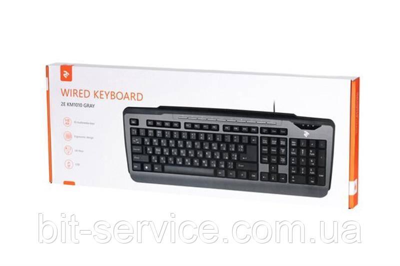 Клавіатура 2E KM1010 (2E-KM1010UB) Gray USB