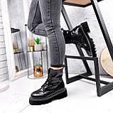 Ботинки женские Piton черные ДЕМИ 2841, фото 4