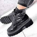 Ботинки женские Piton черные ДЕМИ 2841, фото 5