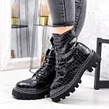 Ботинки женские Piton черные ДЕМИ 2841, фото 6