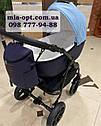 Детская коляска 2 в 1  Classik ( Классик) Victoria Gold эко кожа синий, фото 3