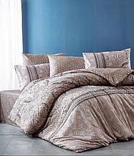 Комплект постельного белья ранфорс  Nazenin полуторный размер Sante Kahve