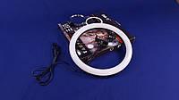 Кольцевая LED лампа светодиодная 30 см с зеркалом для селфи SMN-12 | Селфи кольцо | Кольцевой Лед свет
