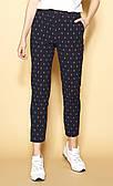 Жіночі літні брюки темно-синього кольору. Модель Rheba Zaps. Колекція весна-літо 2021.