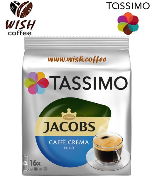 АКЦ! ПОШТУЧНО Кофе в капсулах Тассимо - Jacobs Caffè Crema Mild (16 порций)